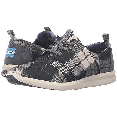TOMS Del Rey Sneaker (Black/White Plaid) Women
