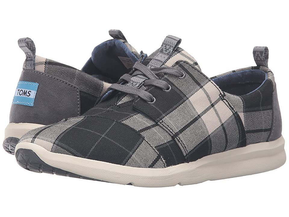 TOMS Del Rey Sneaker (Black/White Plaid) Women
