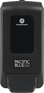 """Pacific Blue Ultra Wall-Mounted Manual Dispenser for Foaming Hand Soap and Hand Sanitizer by GP PRO (Georgia-Pacific), Black, 53057, 11.5"""" W x 5.6"""" D by 4.4"""" H"""