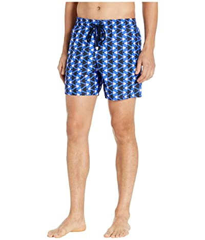 Vilebrequin Re Mi Fa Soles Moorea Swim Trunks (Royal Blue) Men