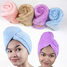 Hair Towel - Microfibre Hair Towel Wrap For Women - Thick & Light Super Absorbent Quick Dry Hair Faster Than Normal Cotton...