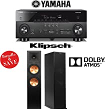 Klipsch Reference Premiere RP-280FA Dolby Atmos Floorstanding Loudspeakers with Yamaha AVENTAGE RX-A760BL 7.2-Ch A/V Receiver - Bundle