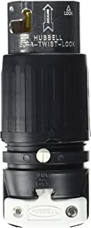 Hubbell CS6365C Locking Plug, 50 amp, 125/250V, 3 Pole and 4 Wire