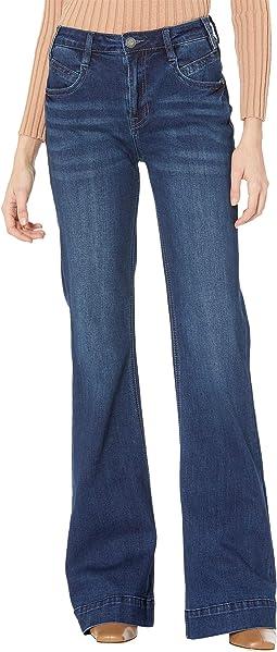 High-Rise Trousers in Dark Wash W8H7506