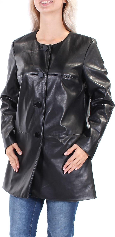 Alfani Womens Prima FauxLeather Jacket