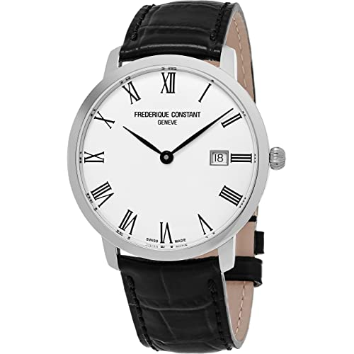43354d17cf9 Frederique Constant Slimline Classic Stainless Steel Automatic Mens Watch -  40mm Analog Silver Face with Date