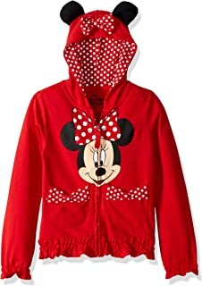 Girls' Minnie Polka-Dot Bow Hoodie