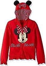 Disney Girls' Minnie Polka-Dot Bow Hoodie