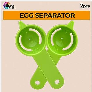 Egg Separator - Egg Yolk White Separator - 2 PCS - Quick and Easily White Yolk Filter Cooking Tool - Easy Egg Filter