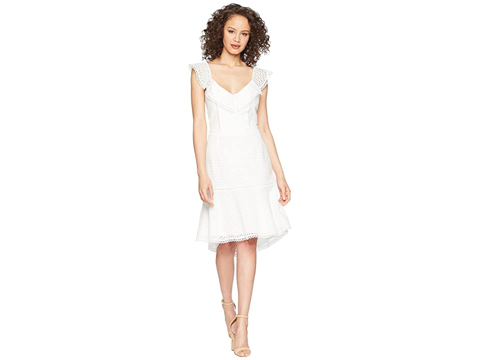 Adelyn Rae Parker Trumpet Dress (Off-White) Women