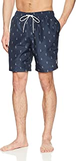 Men's Quick Dry All Over Classic Anchor Print Swim Trunk