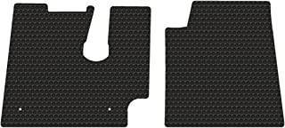 All-Weather Rubber Floor Mats for Kenworth T600 660 800 W900 C500 Fits from July 2005-2019 - Pick Black Gray or Tan (Black)