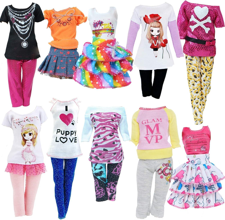 BJDBUS 10 Sets Clothes for 11.5 in Casual Da Doll Girl Handmade Sacramento Mall Surprise price