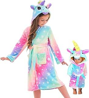 Unicorn Hooded Bathrobe Sleepwear Matching Doll & Girls...