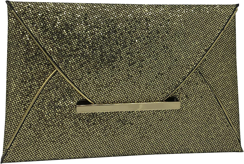 BABOMAREON Envelope Handbags Sequins Evening Clutch Bags for Women