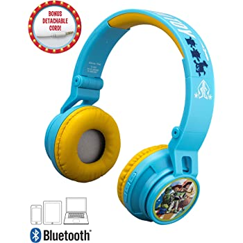 Bluetooth Headphones for Kids Wireless Rechargeable Kid Friendly Sound (Toy Story 4 Packaging)