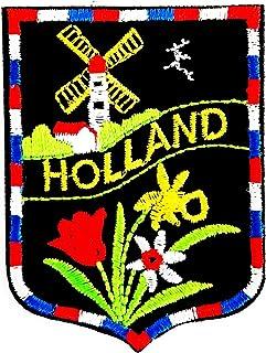 Holland Flower Cartoon Flag The Netherlands as Holland 2X2.5 in MEGADEE Patch Cartoon Kids Symbol DIY Iron on Patch Iron-O...