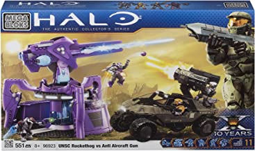 Megabloks Halo UNSC Rockethog vs Anti Aircraft Gun