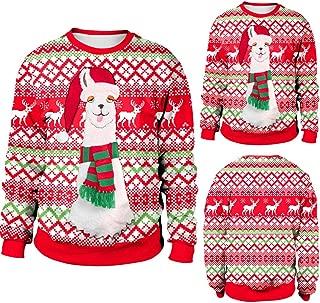 Franterd Merry Christmas Autumn Winter Women Plus Size Pullover Christmas Alpaca Elk Sweatershirt Blouse T-Shirt Tops