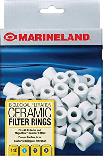 Marineland Ceramic Filter Rings 140 Count,  Supports Biological aquarium Filtration,  Fits C-Series And Magniflow