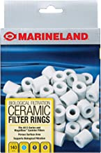 MarineLand Ceramic Filter Rings 140 Count, Supports Biological Aquarium Filtration, Fits..