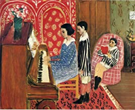 Henri Matisse - The Piano Lesson, Size 20x24 inch, Gallery Wrapped Canvas Art Print Wall décor