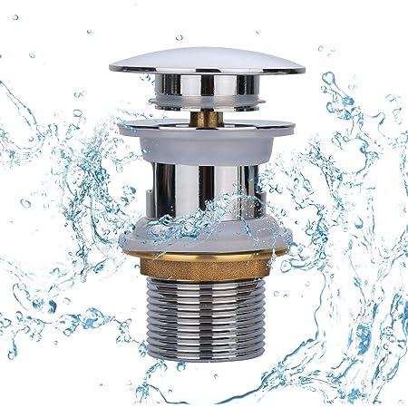 Tapones de drenaje Yizhet, válvula emergente para lavabo, drenaje con rebosadero, drenaje universal Click-Clack con rebosadero, filtro de drenaje anti-explosión y anti-obstrucción para lavabo