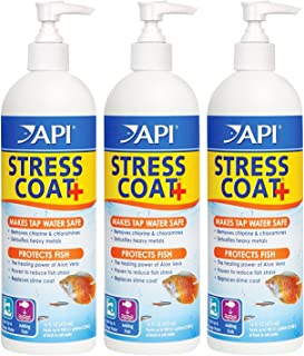 API 3 Pack of Stress Coat Fish and Tap Water Conditioner, 16-Ounce Per Bottle (Treats 946 Gallons Per Bottle)