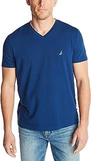 Nautica Mens Short Sleeve Solid Slim Fit V-Neck T-Shirt
