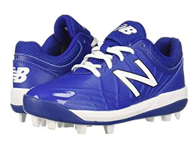 New Balance Kids 4040v5 Baseball (Little Kid/Big Kid) (Black/Royal) Kids Shoes