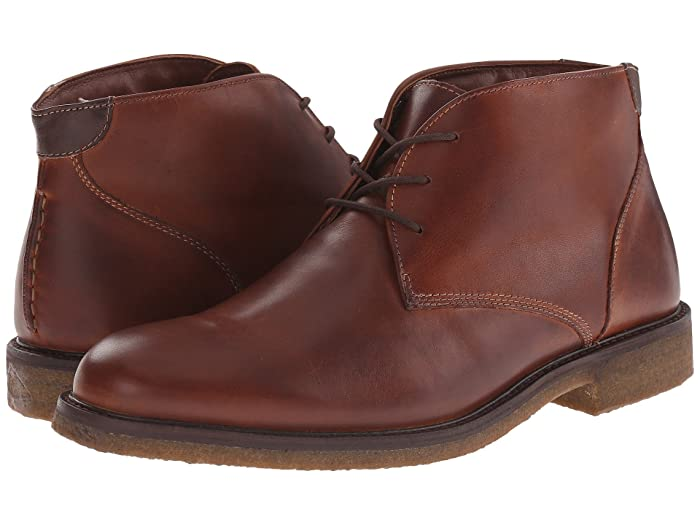 Johnston and Murphy  Copeland Casual Chukka Boot (Red Brown Oiled Full Grain) Mens Lace-up Boots