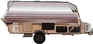 ALEKO RVAW16X8BRSTR34 Retractable RV or Home Awning 16 x 8 Feet Brown Striped
