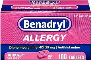 Benadryl Allergy Ultratab Tablets, 100 tablets (Pack of 2)