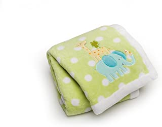 Carter's Easy Printed Embroidered Boa Blanket, Safari Stack (Discontinued by Manufacturer)