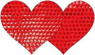 Nippies Style Red Sequins Heart Waterproof Self Adhesive Nipple Cover Pasties
