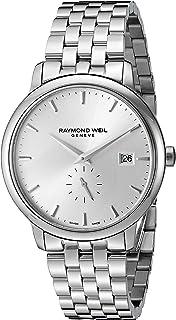 ساعة رايموند ويل للرجال 5484-ST-65001 انالوج كوارتز فضية