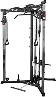 Valor Fitness BD-61 Cable Crossover Station with LAT Pull, Row Bar, and Multi-Grip Pull-Up Station Plus Optional Cable Attachments for Functional Home Gym