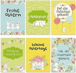 Papierdrachen 12 kartek wielkanocnych do kolekcjonowania i wysyłania – starannie zaprojektowane kartki pocztowe zestaw zaj...