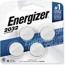 Energizer CR2032 Batteries, 3V Lithium Coin Cell 2032 Watch Battery, (4 Count)