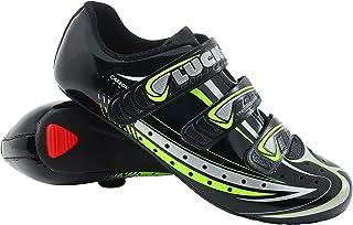 Zapatilla de Ciclismo Mega, para Carretera, con Suela de Carbono y Triple Tira de Velcro.