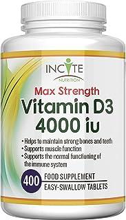 Vitamin D 4000iu - 400 Premium Vitamin D3 Easy-Swallow Micro