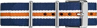 Timex TW7C07200 20mm Blue/White/Orange Stripe Double-Layered Nylon Strap