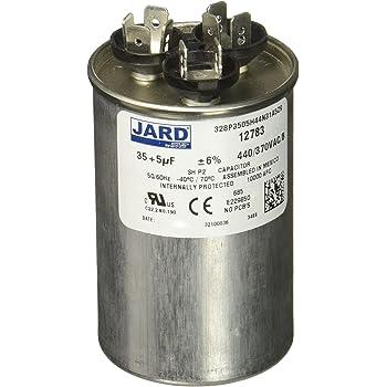 Round 30 2.00 Diameter 5 Mfd x 440V SUPCO CD30+5X440R Dual Motor Run Capacitor 3.75 Height 2.00 Diameter 3.75 Height Sealed Unit Parts Co Inc