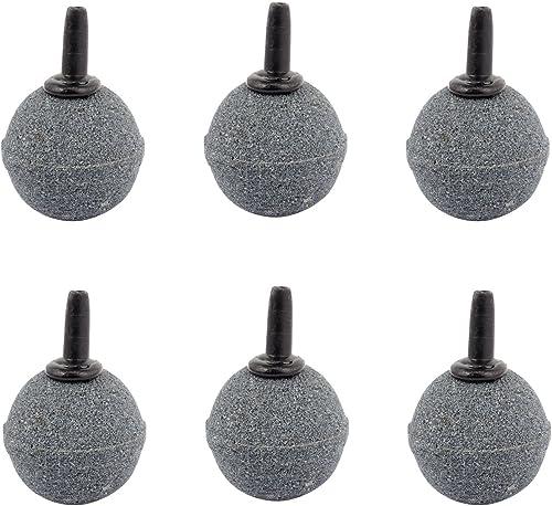 Pawfly 6 PCS Ball Shape 1.2 Inch Air Stone ASR030 Mineral Bubble Diffuser Airstones for Aquarium, Fish Tank, Pump