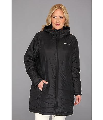Columbia Plus Size Mighty Litetm Hooded Jacket (Black) Women