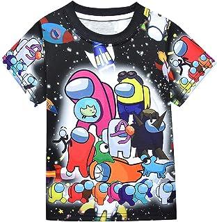 Kids Boys Among Us Tshirts Short Sleeve Casual Tops Fashion Summer Outfits