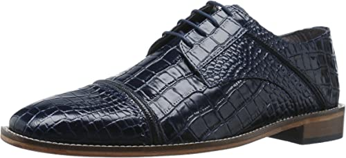 STACY ADAMS Men& 039;s Raimondo Cap Toe Oxford, Dark Blau schwarz, 9.5 M US
