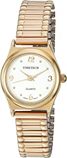 Viva Time Women's 'Timetech Stretch Bracelet' Quartz Metal and Stainless Steel Casual Watch, Color:Gold-Toned (Model: 2682L)
