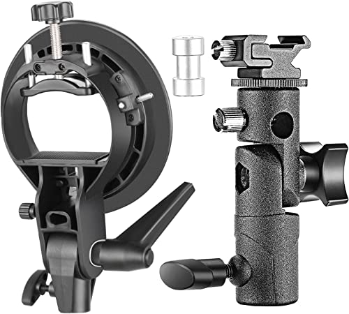 Neewer Professional Universal E-Type and S-Type Bracket Holder with Bowens Mount for Speedlite Flash Snoot Softbox Be...