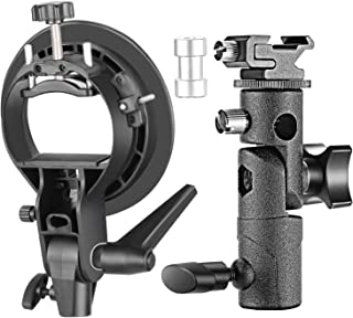 Neewer Professional Universal E-Type and S-Type Bracket Holder with Bowens Mount for Speedlite Flash Snoot Softbox Beauty ...